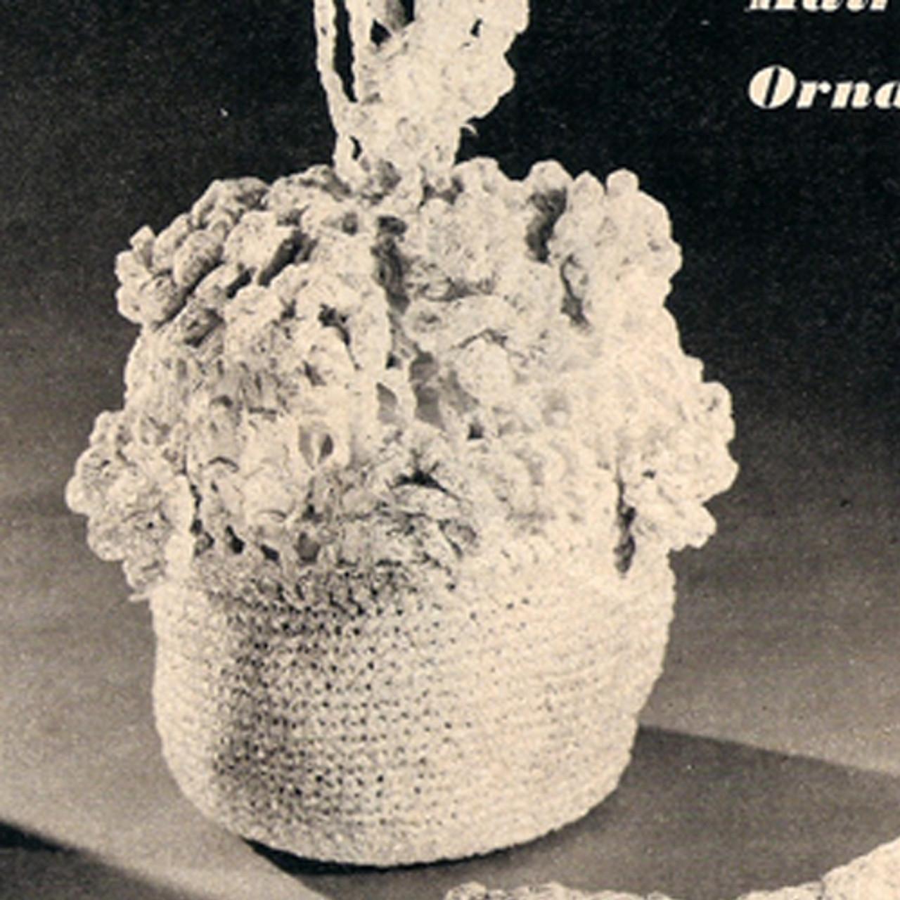 Small Floral Crochet Handbag Hair Piece Pattern