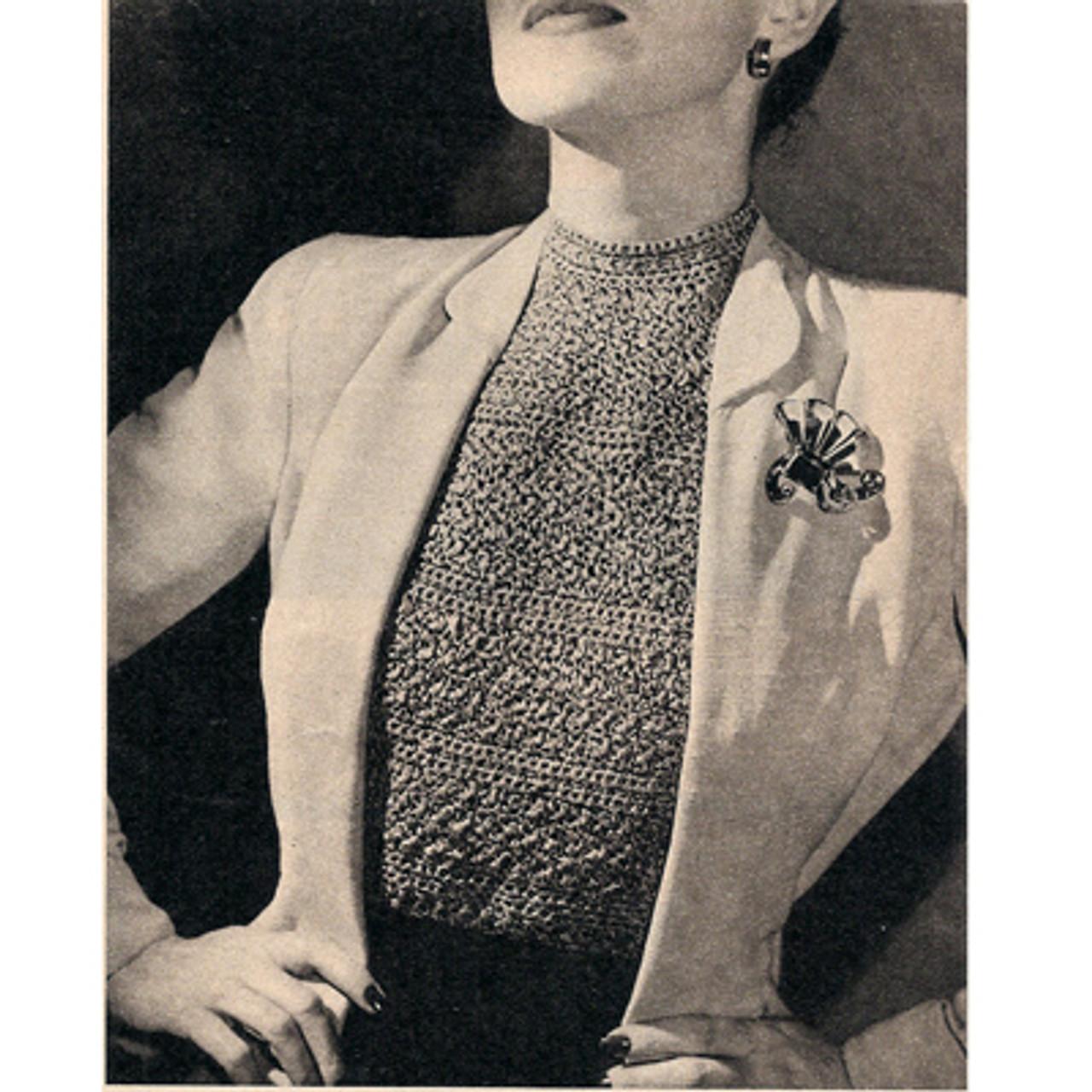 Vintage Crochet Dickey Pattern