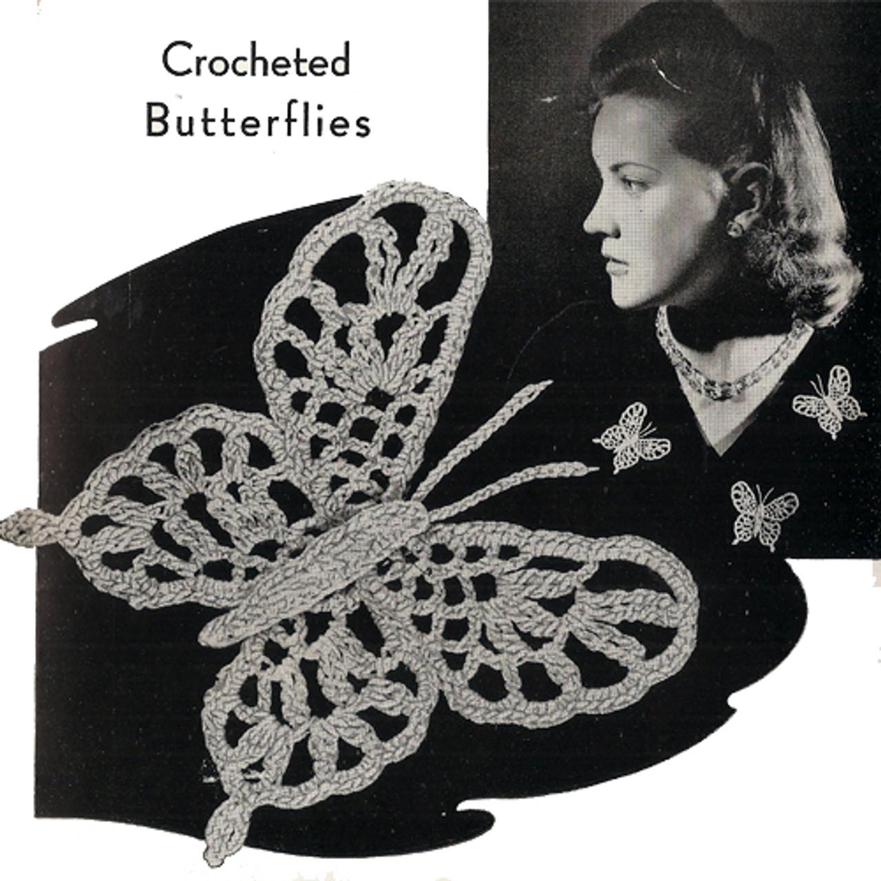Free Butterfly Broach Pin Crochet Pattern