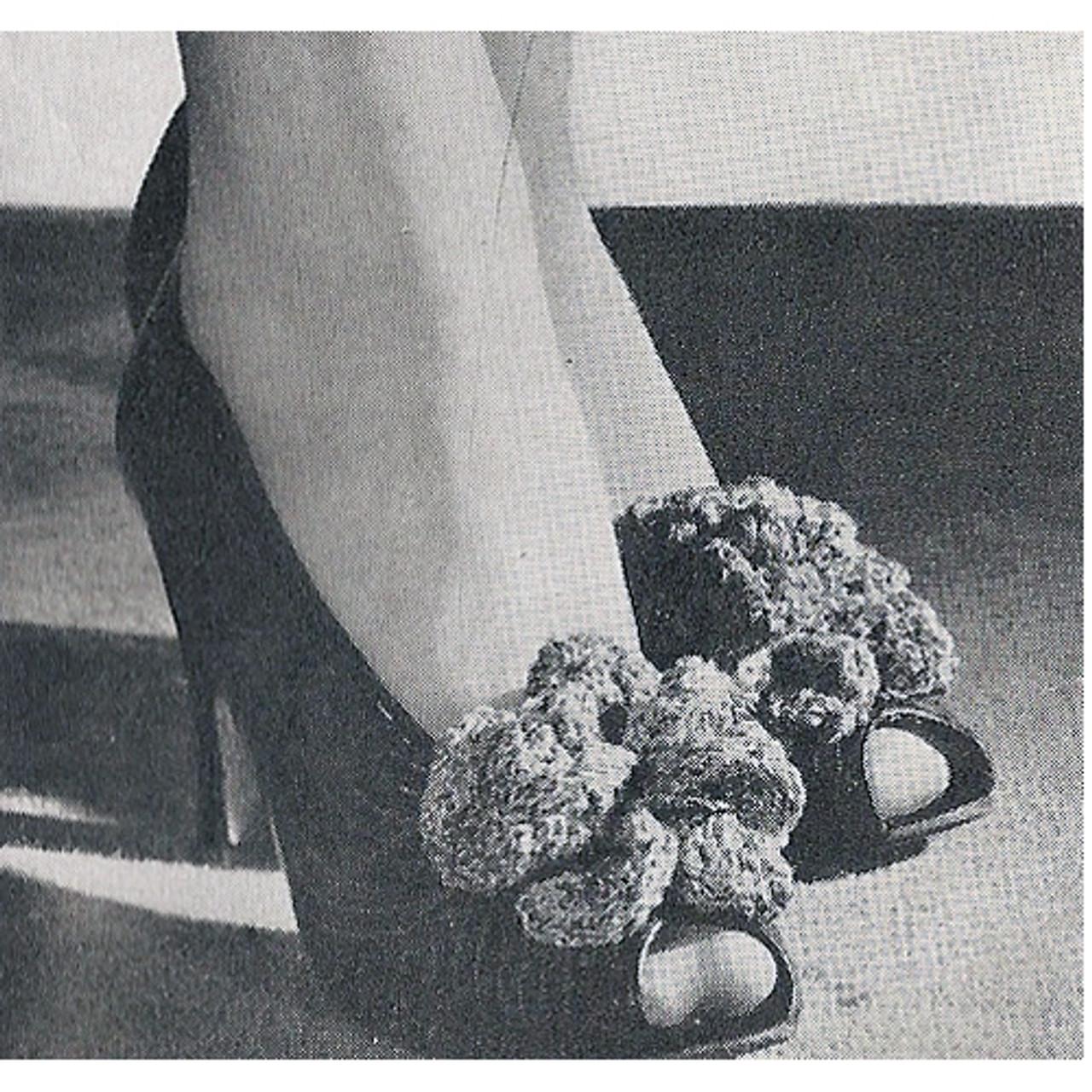 Crochet Flower Shoe Clips Pattern