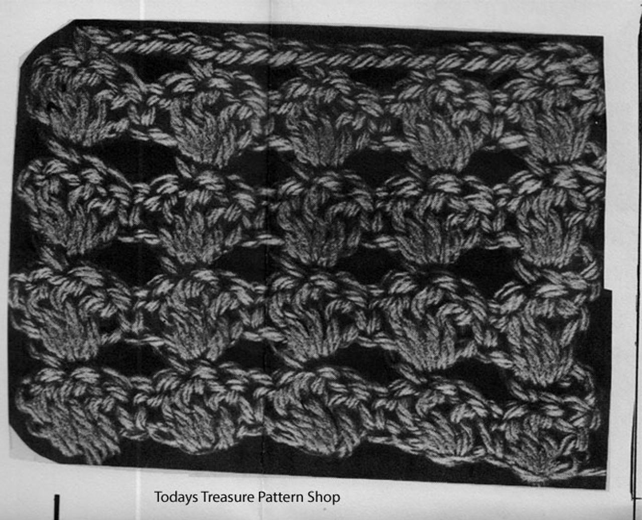 Crochet Cape Shell Pattern Stitch