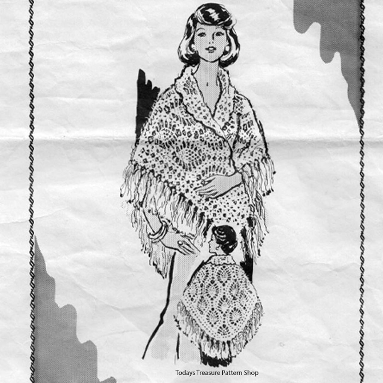 Pineapple Crochet Cape Pattern No 7179