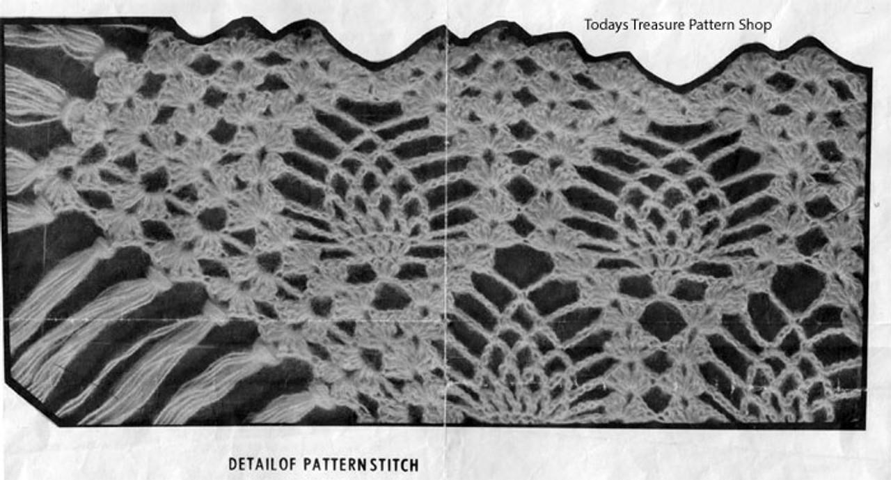 Pineapple Cape Crochet Illustration