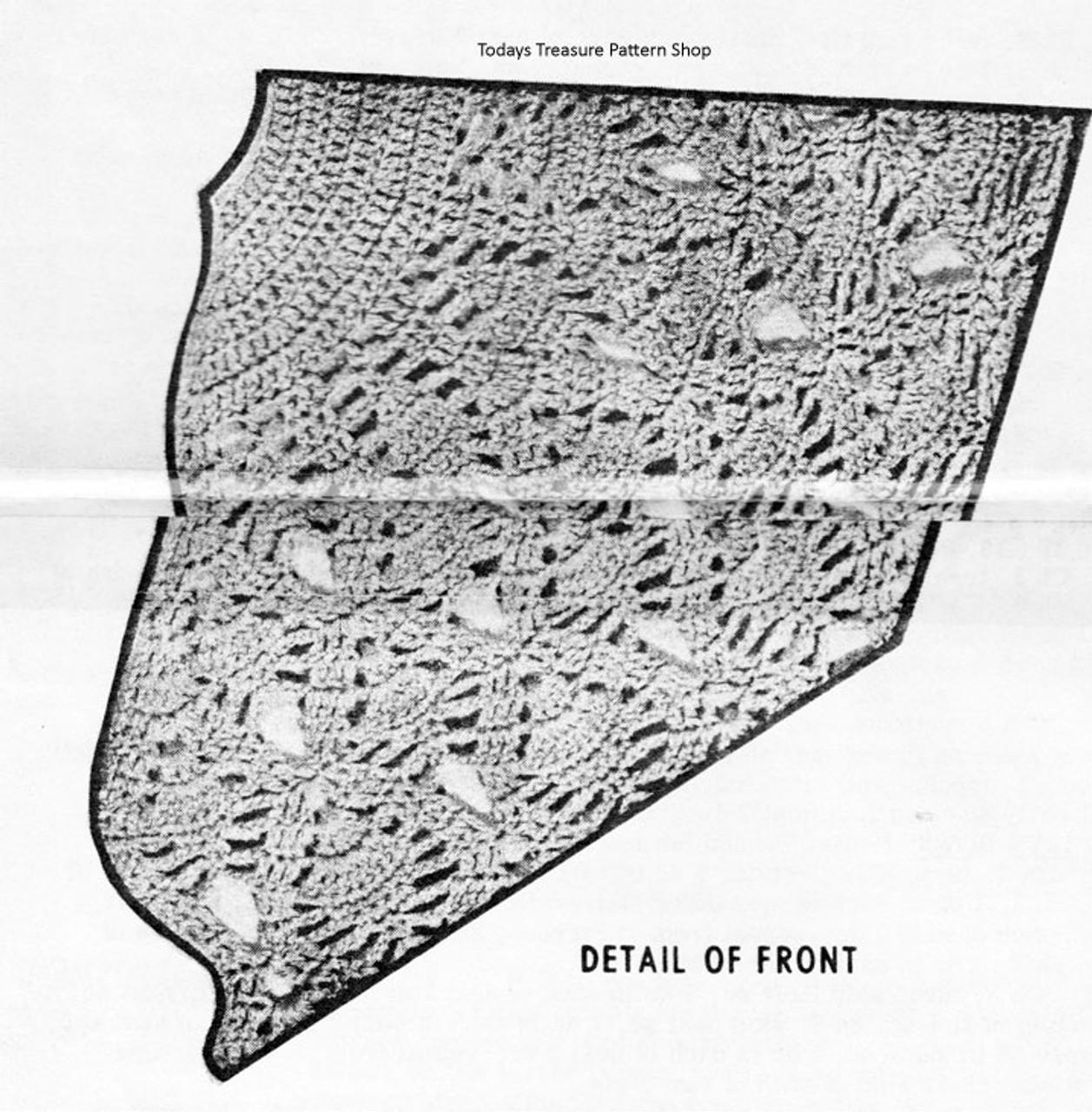 Pineapple Stitch Cape Illustration