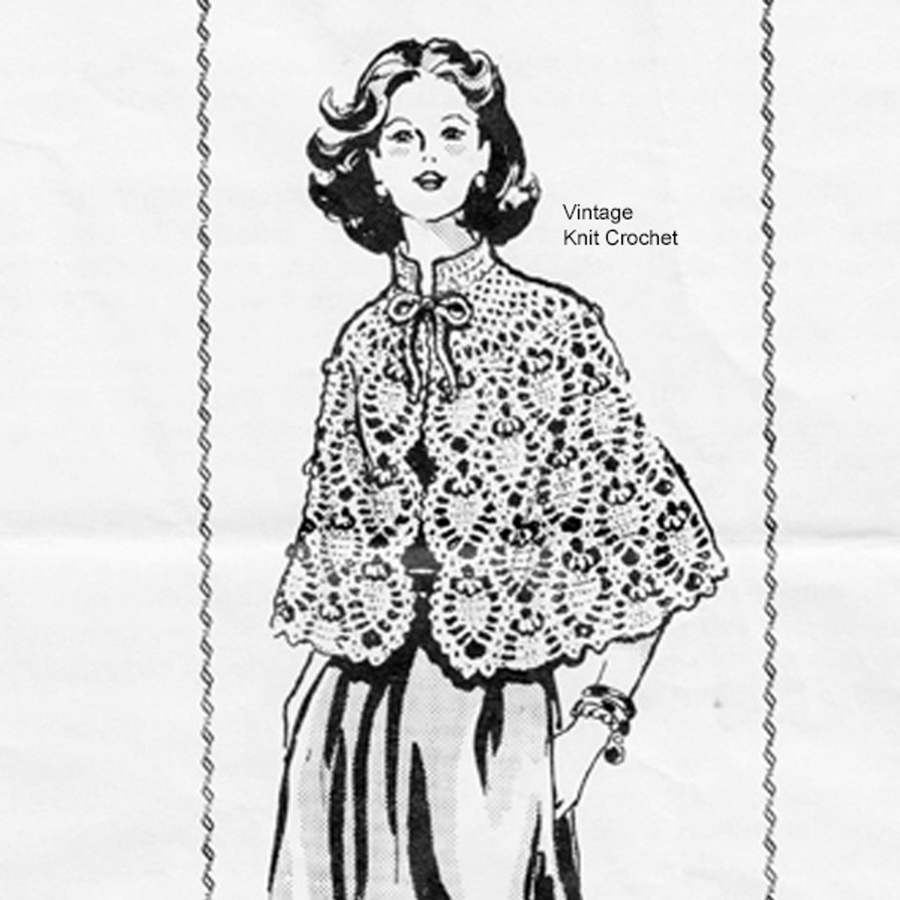 Mail order Crochet Pineapple Cape Pattern, Laura Wheeler 716