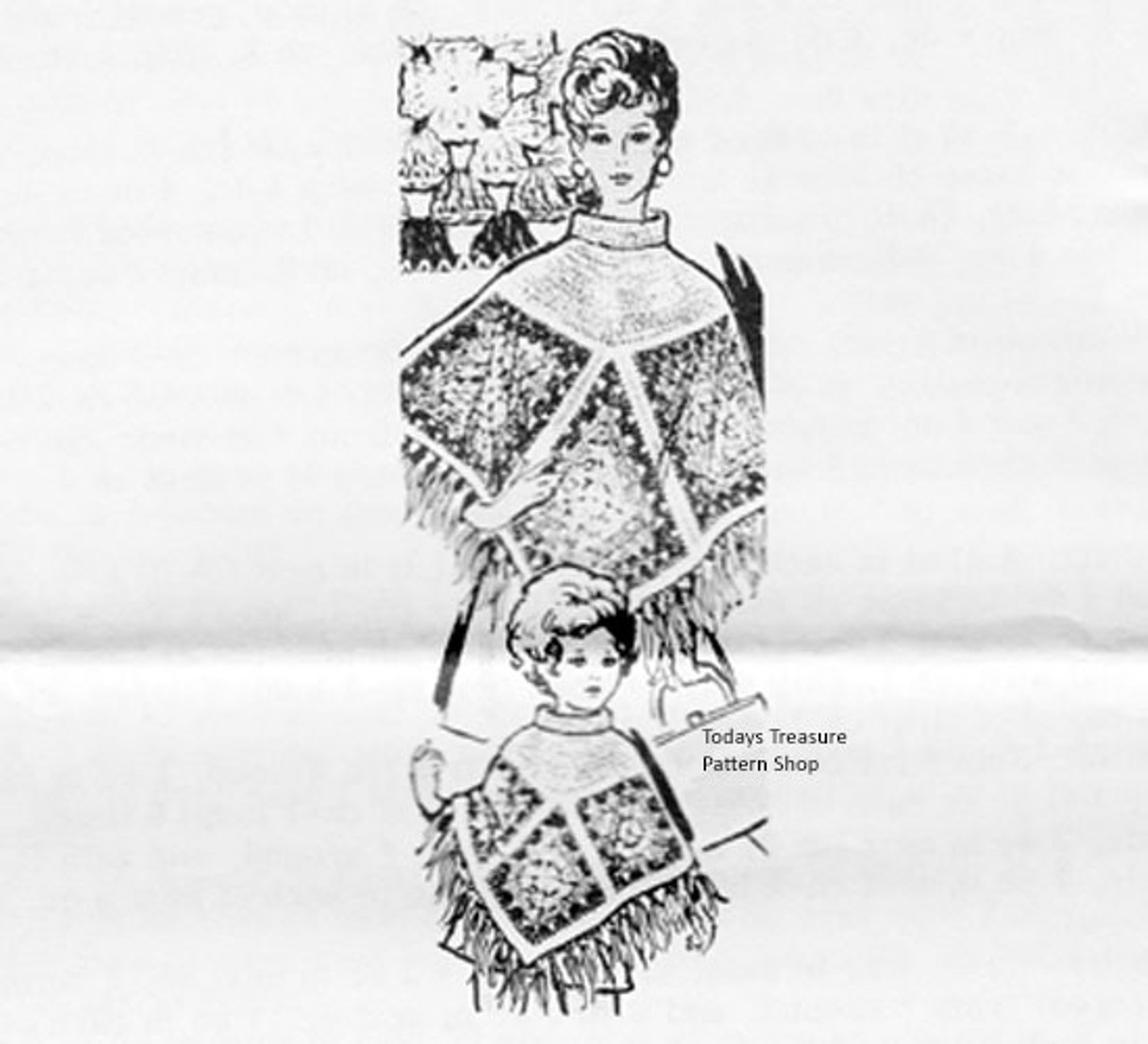 Crochet Triangle Poncho Pattern Mail Order 607