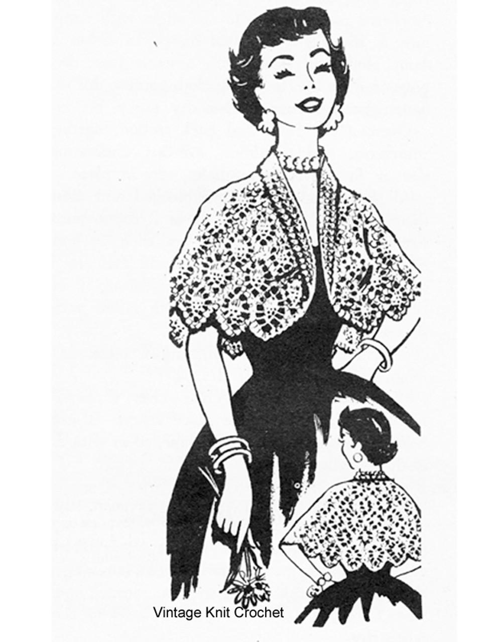 Short Pineapple Cape Pattern, Laura Wheeler 833