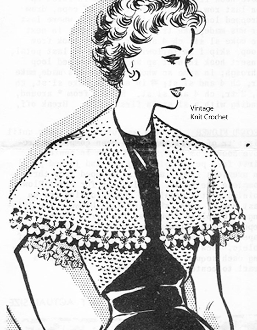 Mail Order capelet crochet pattern No 2227