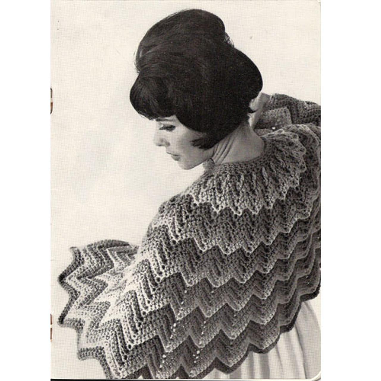 Waist Length Crochet Ripple Cape Pattern