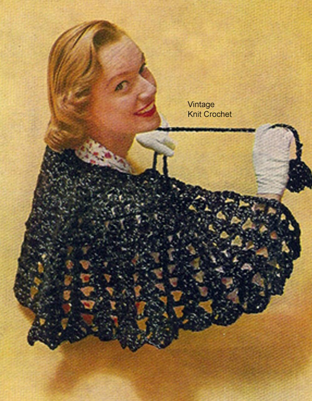 Crochet Mini Cape Pattern, Capelet