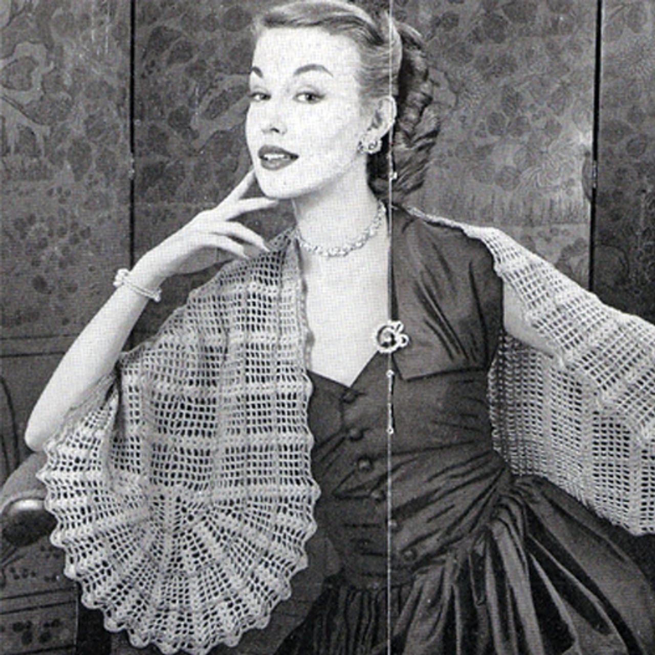 Vintage Oval Stole Crochet pattern
