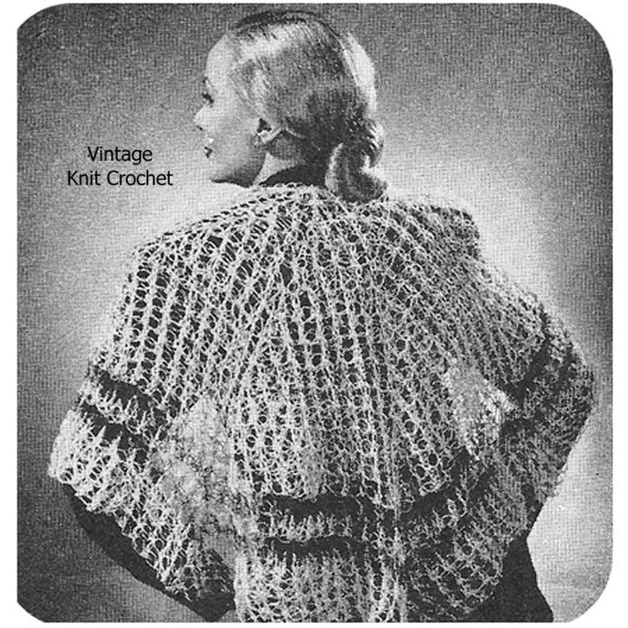 Vintage Circular Shawl Crochet Pattern, Knot Stitch