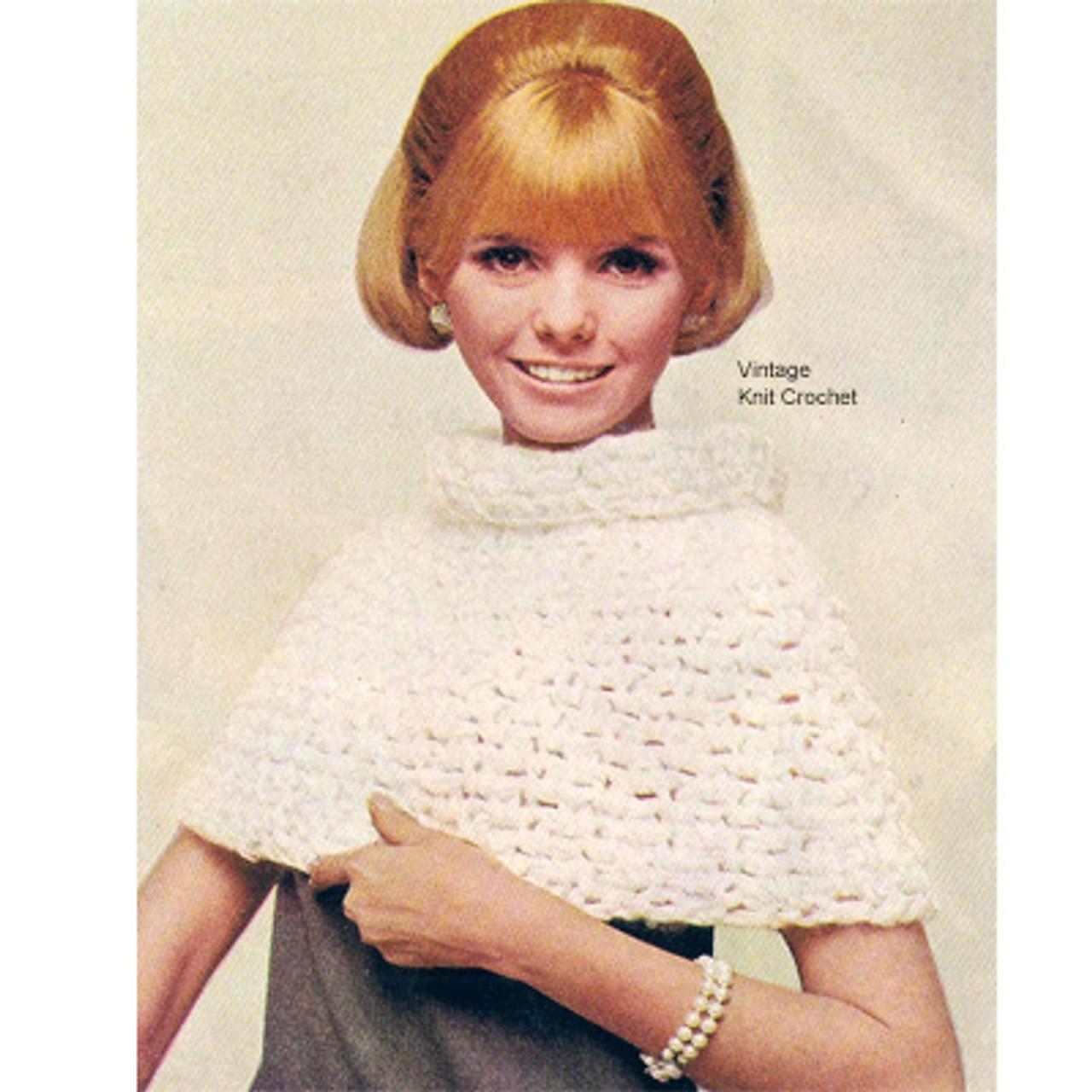 Short Crochet Cape Pattern, Big Hook Design