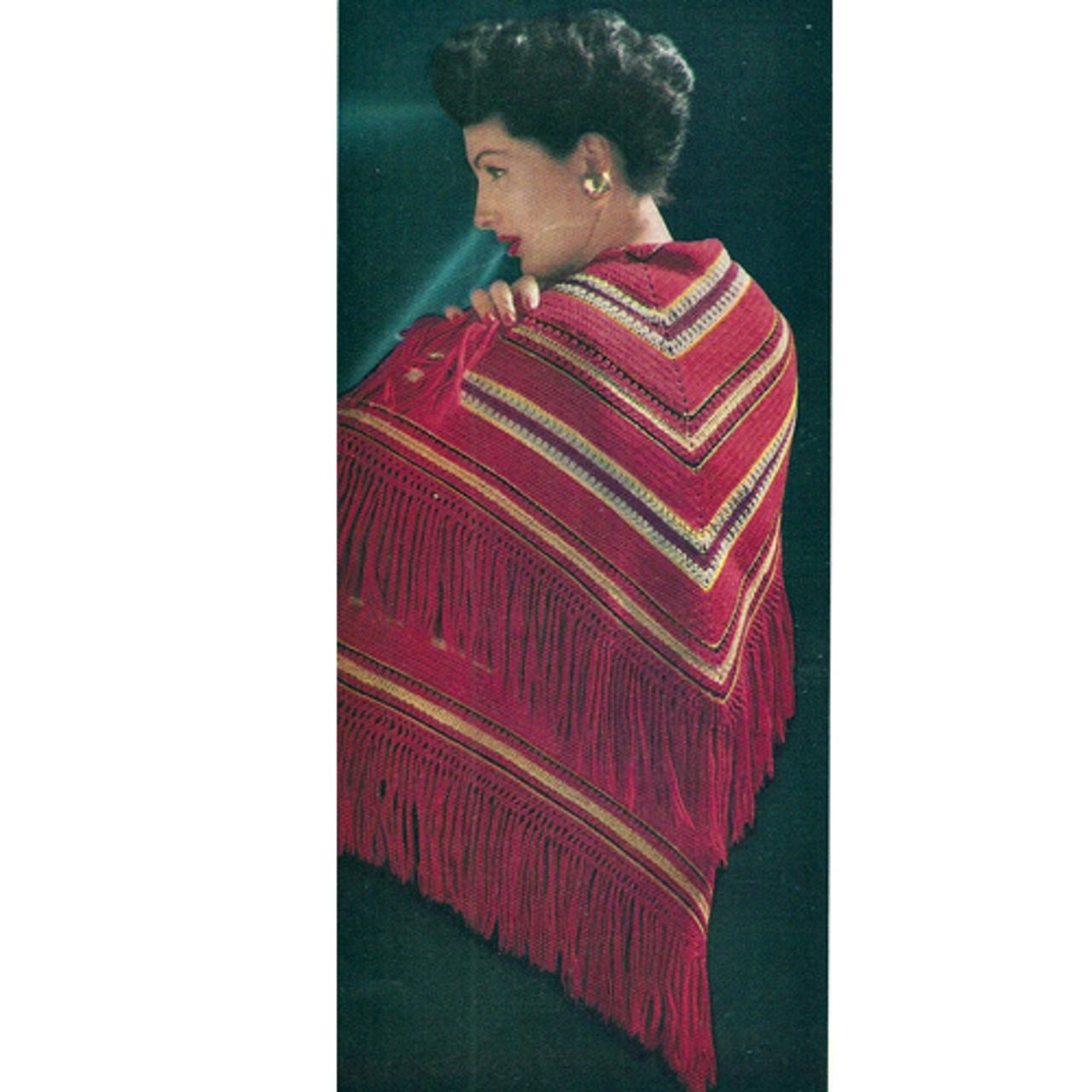 Triangle Chevron Striped Crochet Shawl Pattern