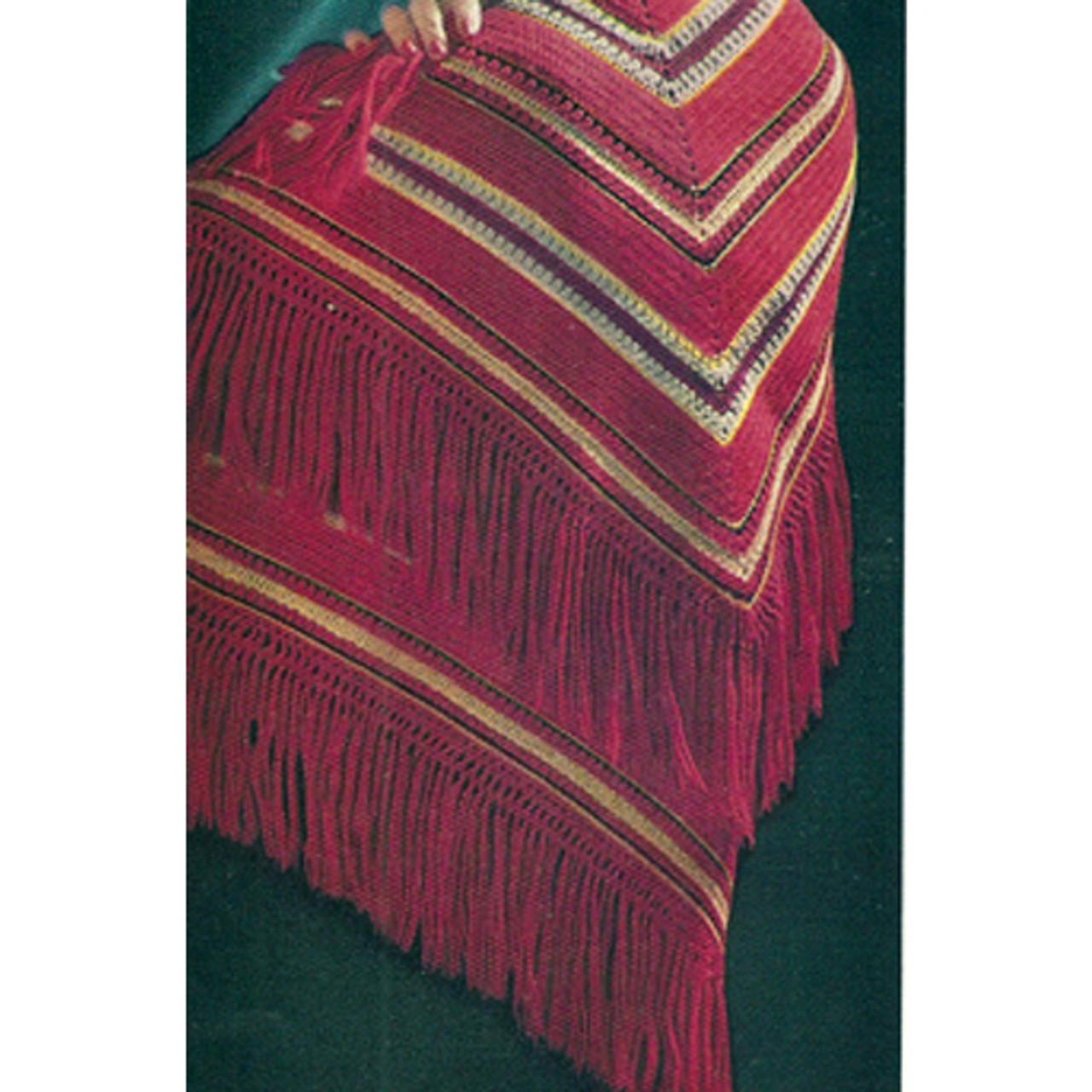 Crochet Chevron Striped Shawl Pattern