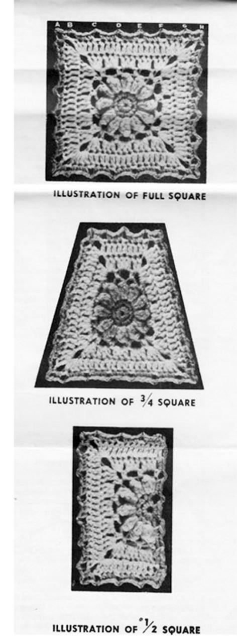 Crochet Granny Squares Illustration for Design 7225