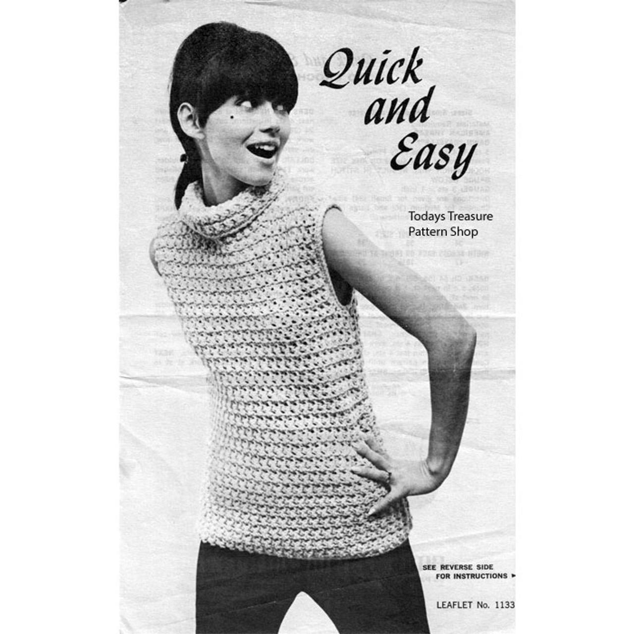 Beginners Sleeveless Turtleneck Top Crochet Pattern