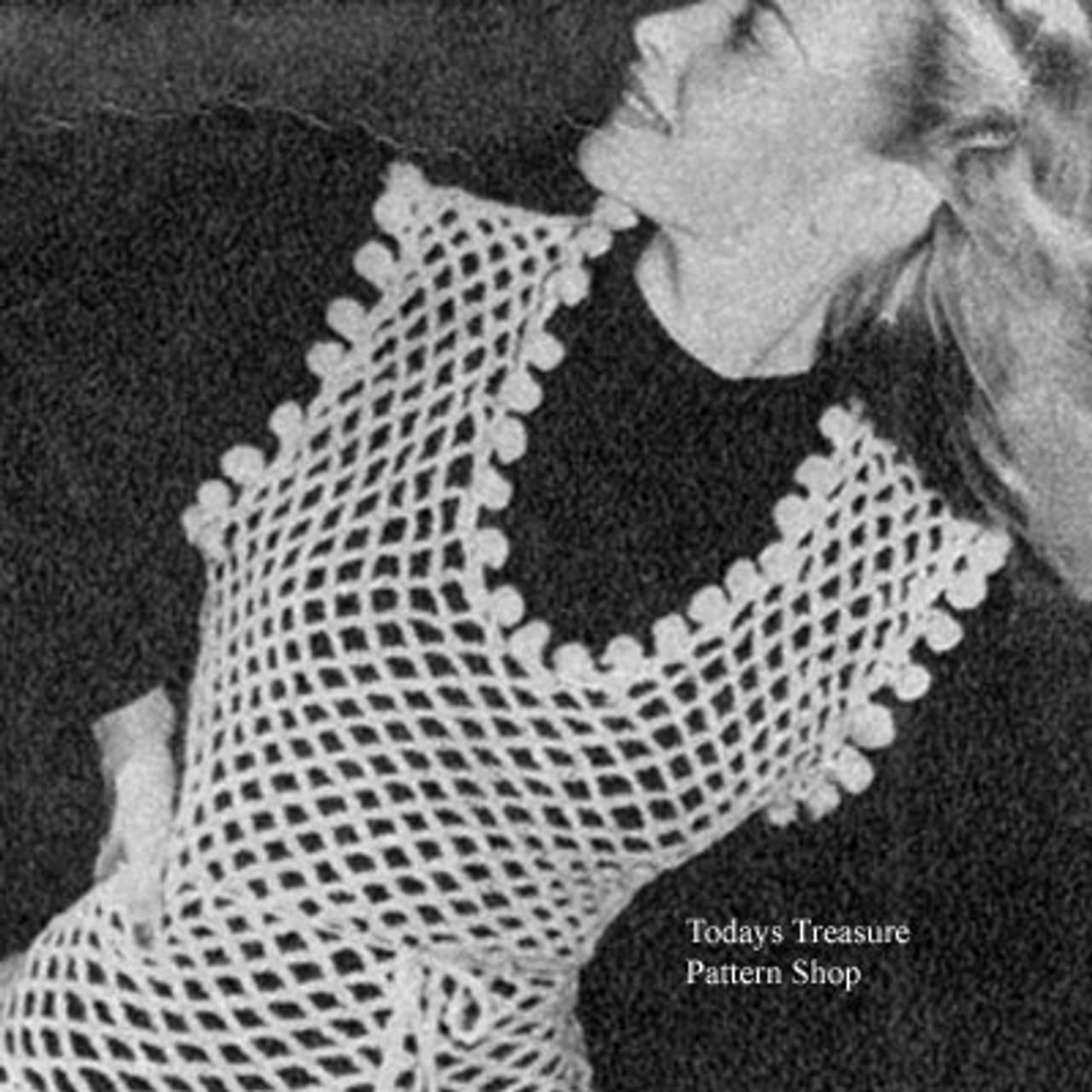 Crocheted Mesh Shell Pattern, Vintage 1930s