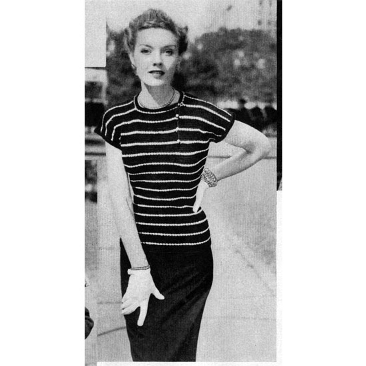 Crochet Stripped Pullover Pattern sleeveless