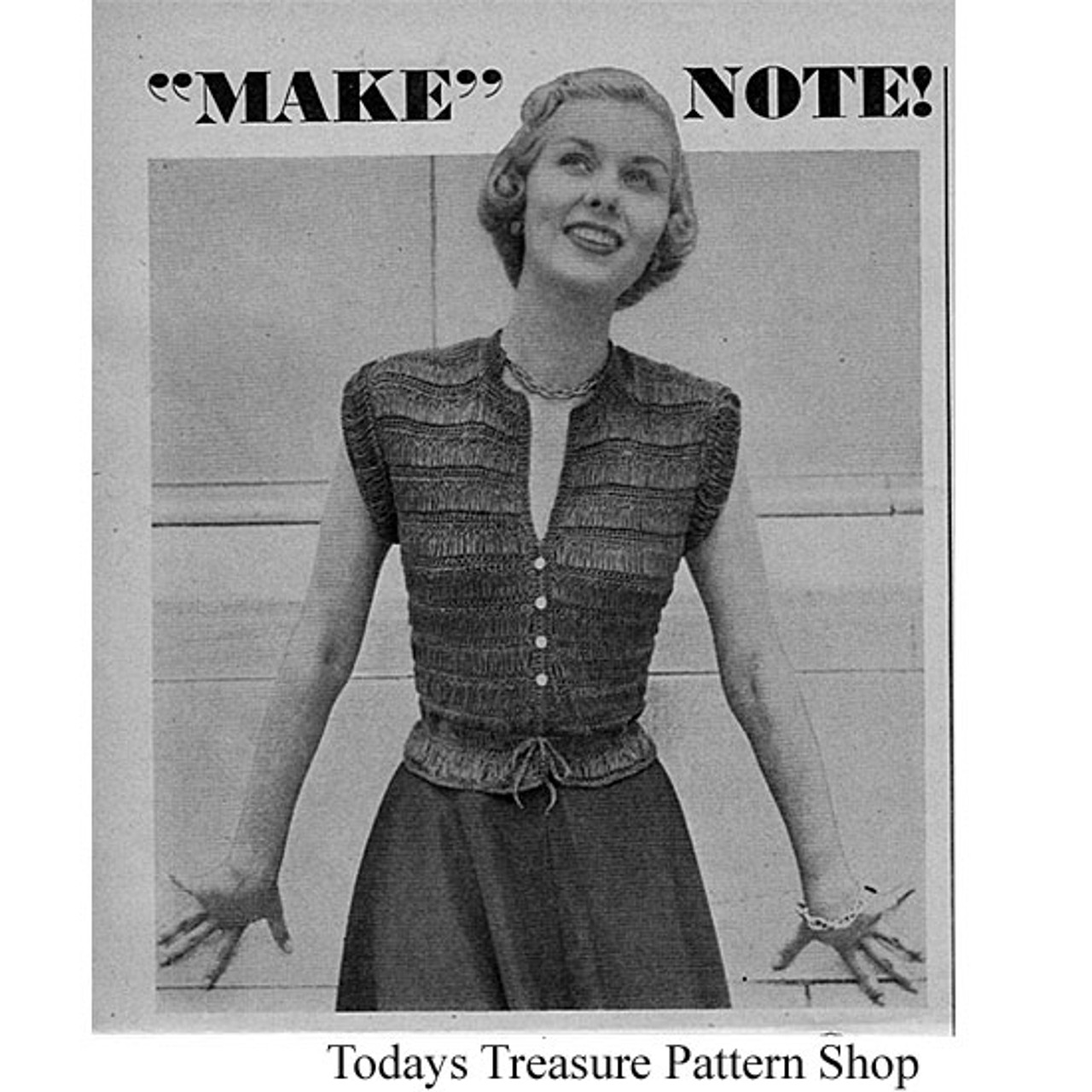 Crochet Vintage Sleeveless Blouse Pattern