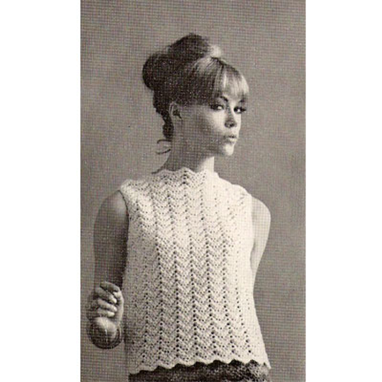 Vertical Ripple Shell Crochet Pattern