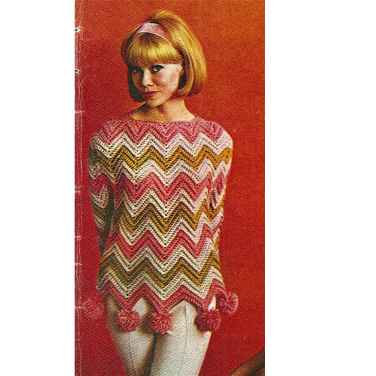 Crochet Loose Fitting Ripple Pullover Pattern
