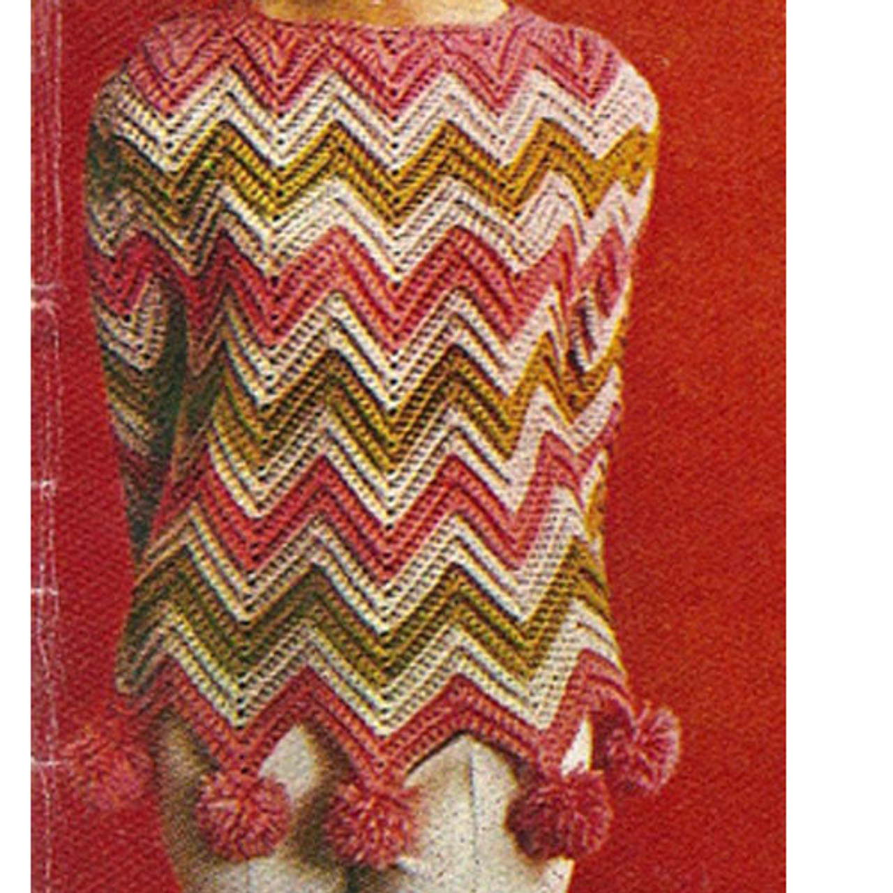 Tri-Color Ripple Sweater Pattern