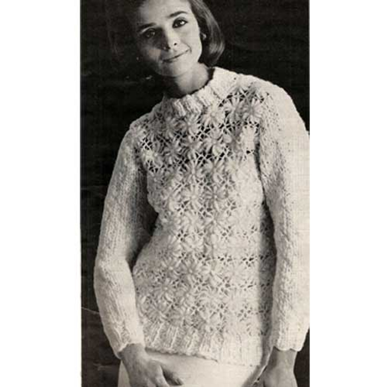 Crazy Daisy WInder Crochet Sweater Pattern
