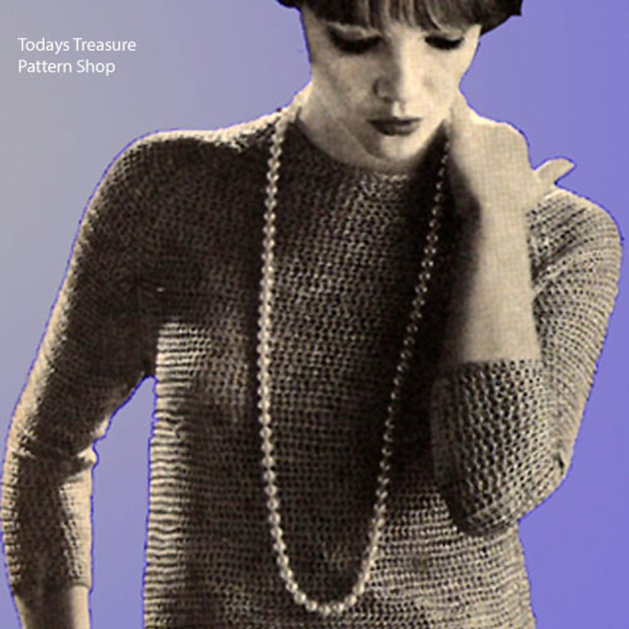 Easy Crochet Pullover Pattern