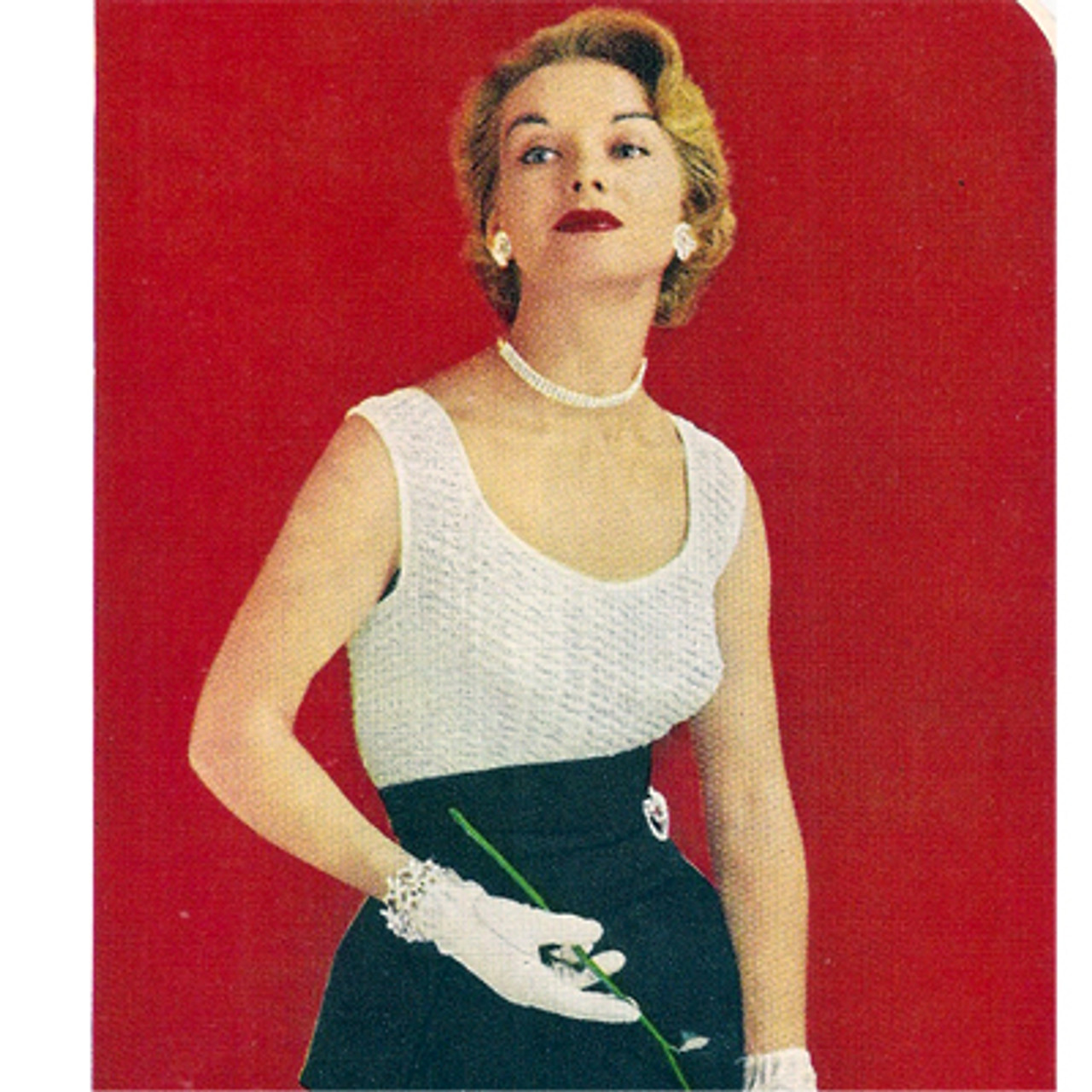 Crochet Sleeveless Evening Blouse Pattern