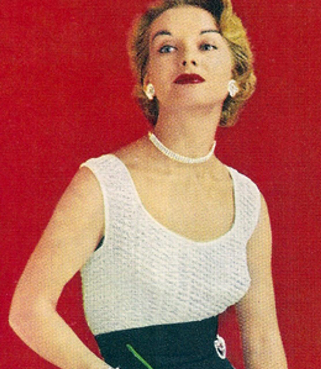 Low Cut Crocheted Evening Blouse, Sleeveless