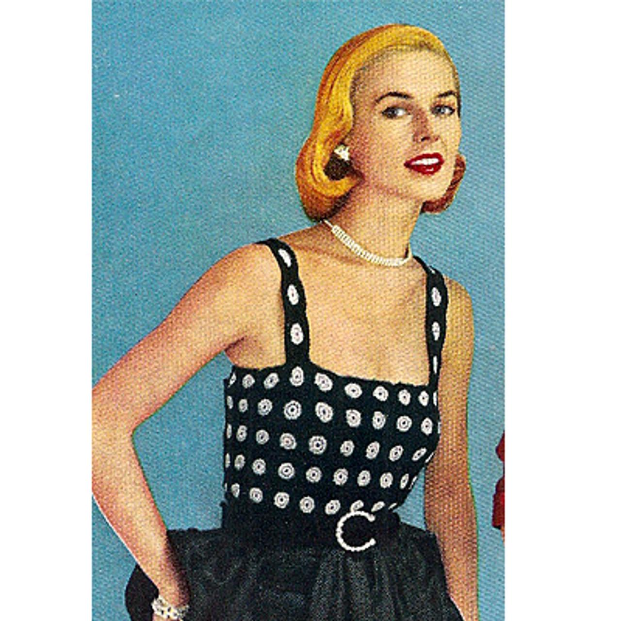 Crochet Medallion Top Pattern with Shoulder Straps