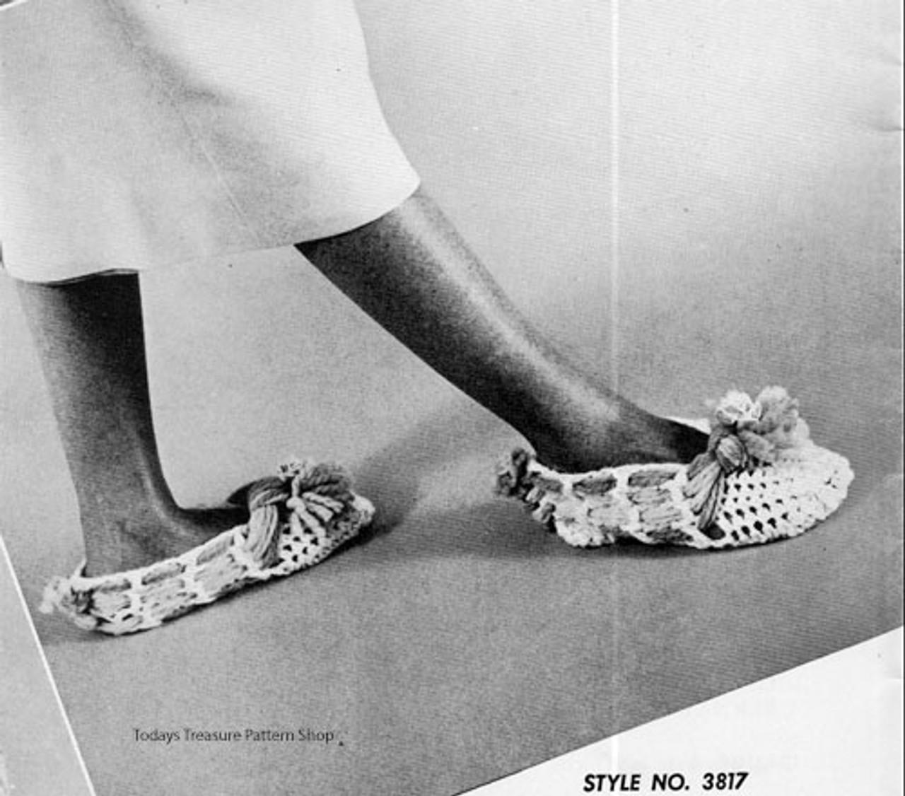 Bulky Slippers Crochet Pattern