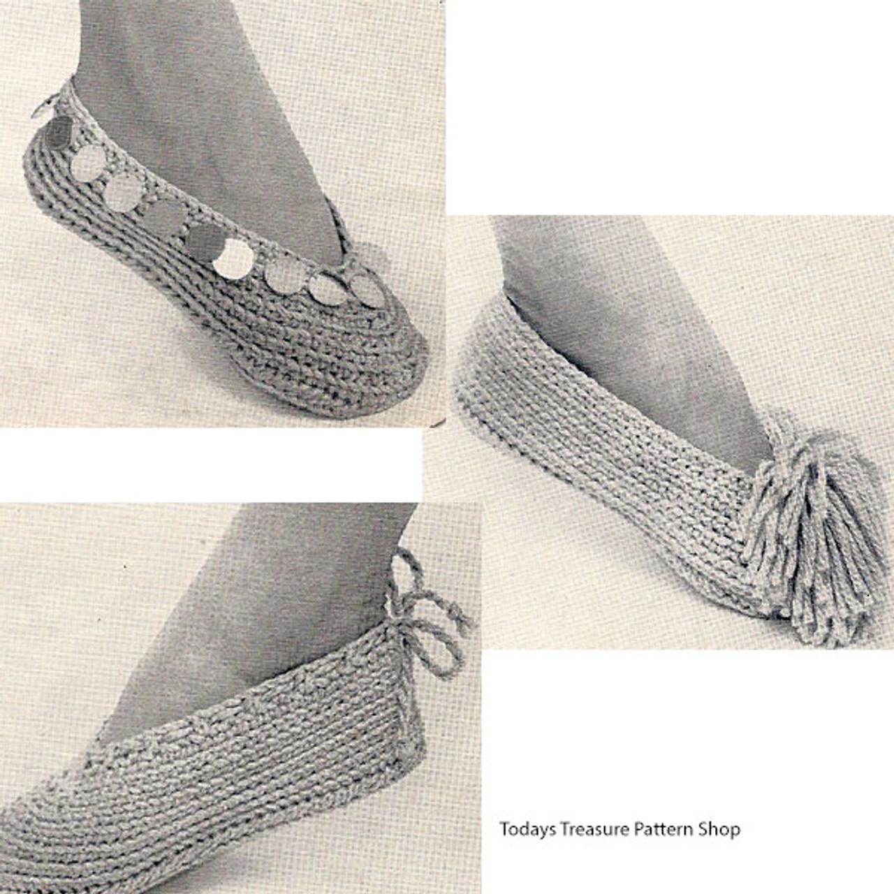 Easy Crochet Slippers Pattern from American Thread