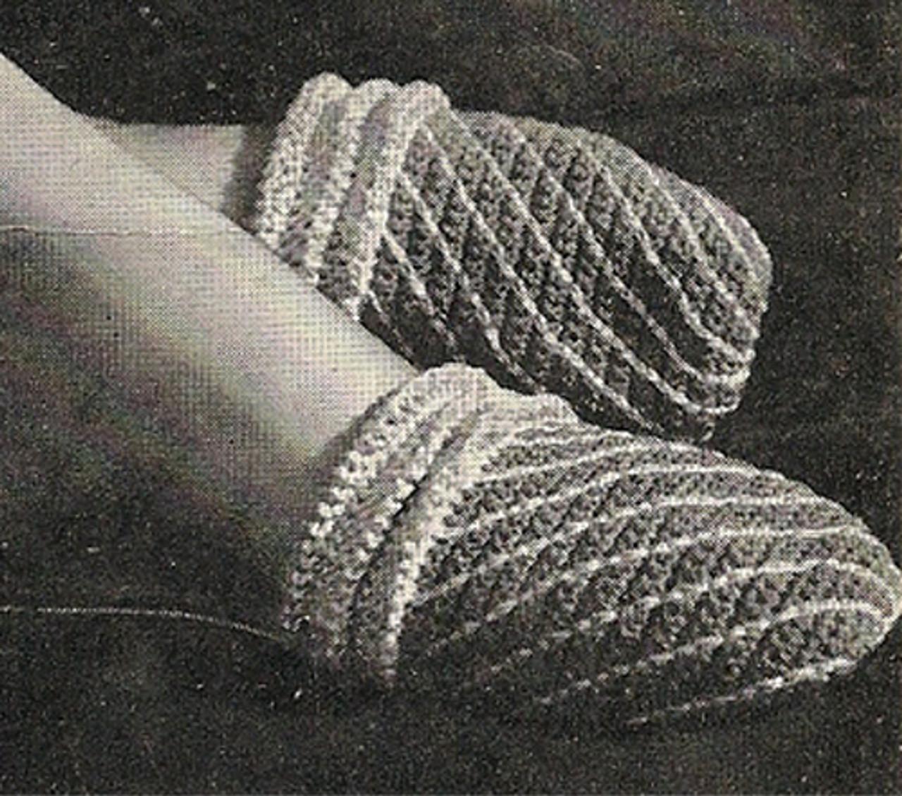 Free Crochet Slip-on Slippers Pattern