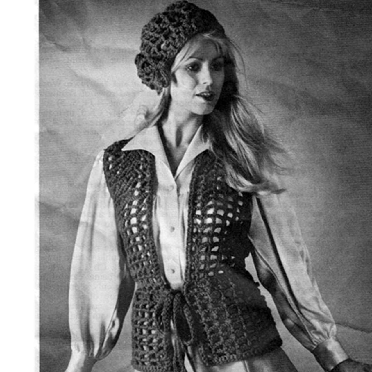 Vintage Crochet Mesh Vest Pattern