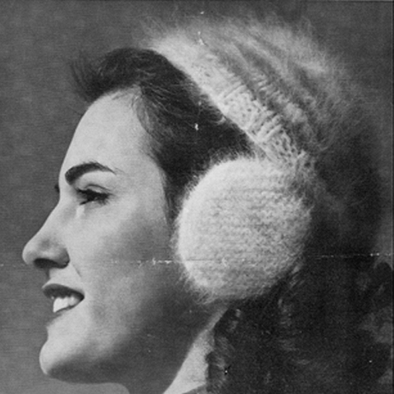 Woolco Knitted Cap and Muffs Vintage Pattern