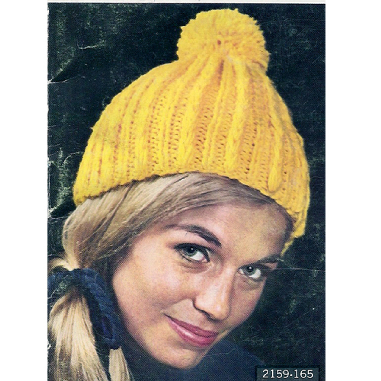 Ribbed Stocking Cap Knitting Pattern from Vintage Knit Crochet