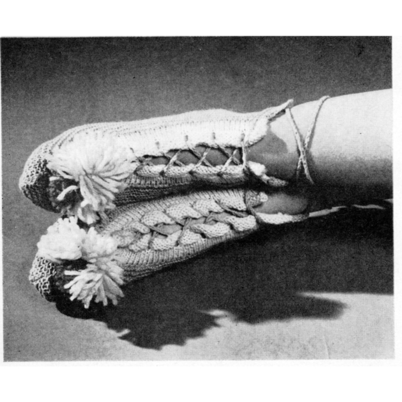 Laced Knitted Bed Socks Pattern