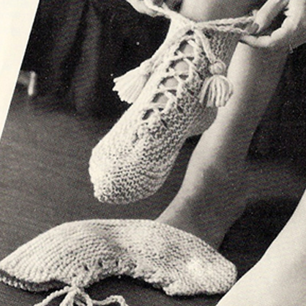 Slipper Boots Knitting Pattern, Vintage 1960s