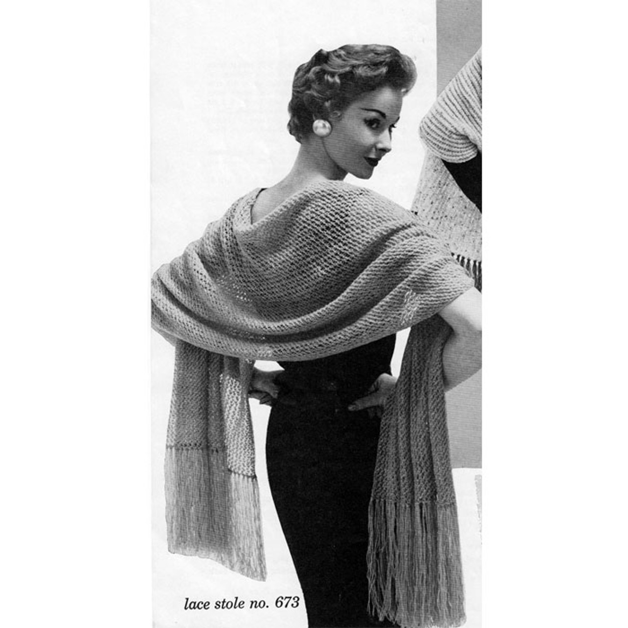 Free Vintage Lace Knitted Stole Pattern