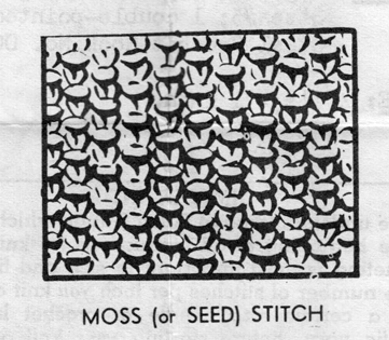 Moss Seed Stitch Knit Illustation