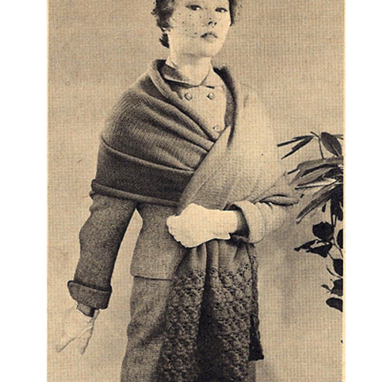 Vintage 1950's Stole Knitting pattern