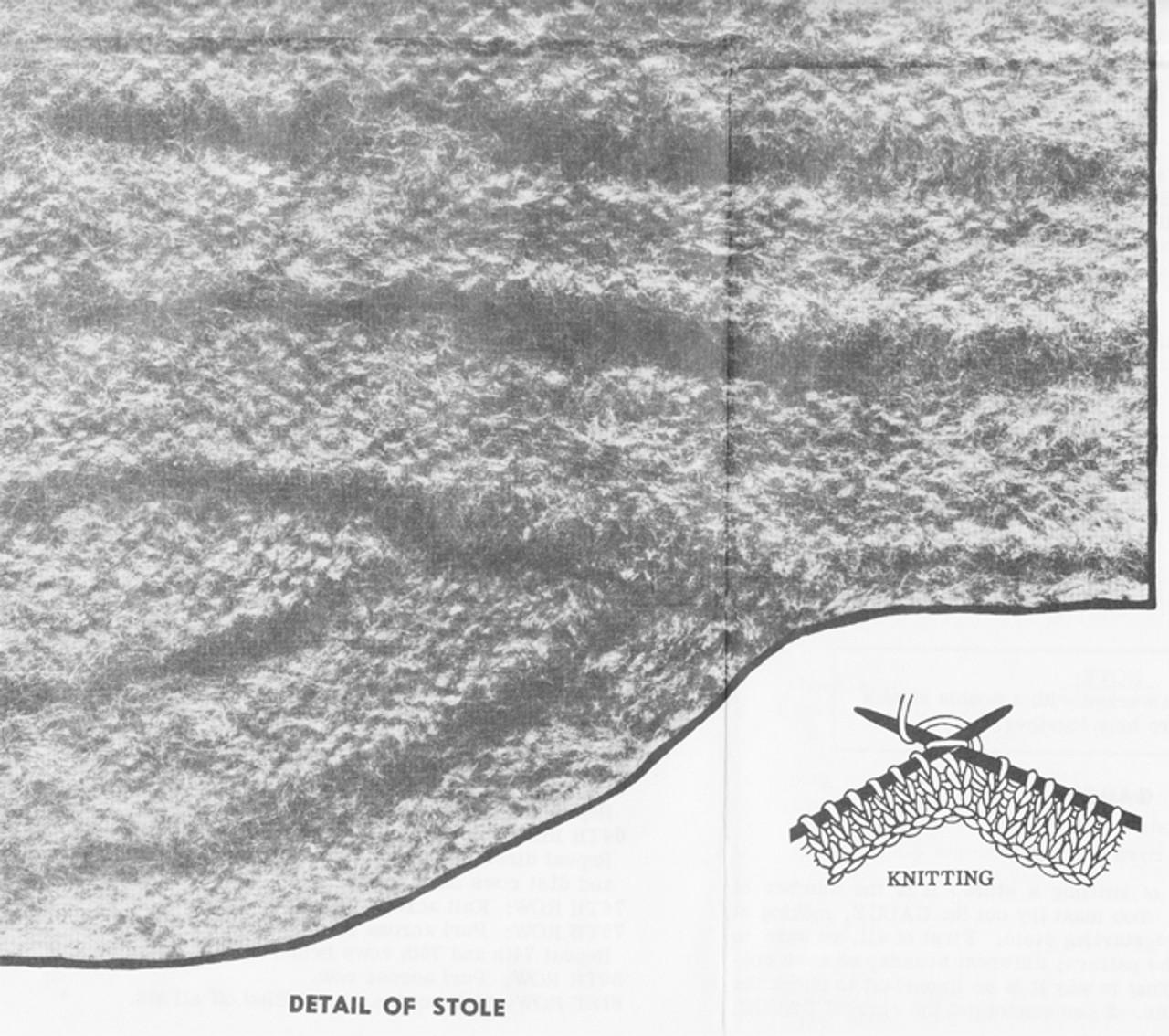 Mohair Stole Knit pattern stitch illustration
