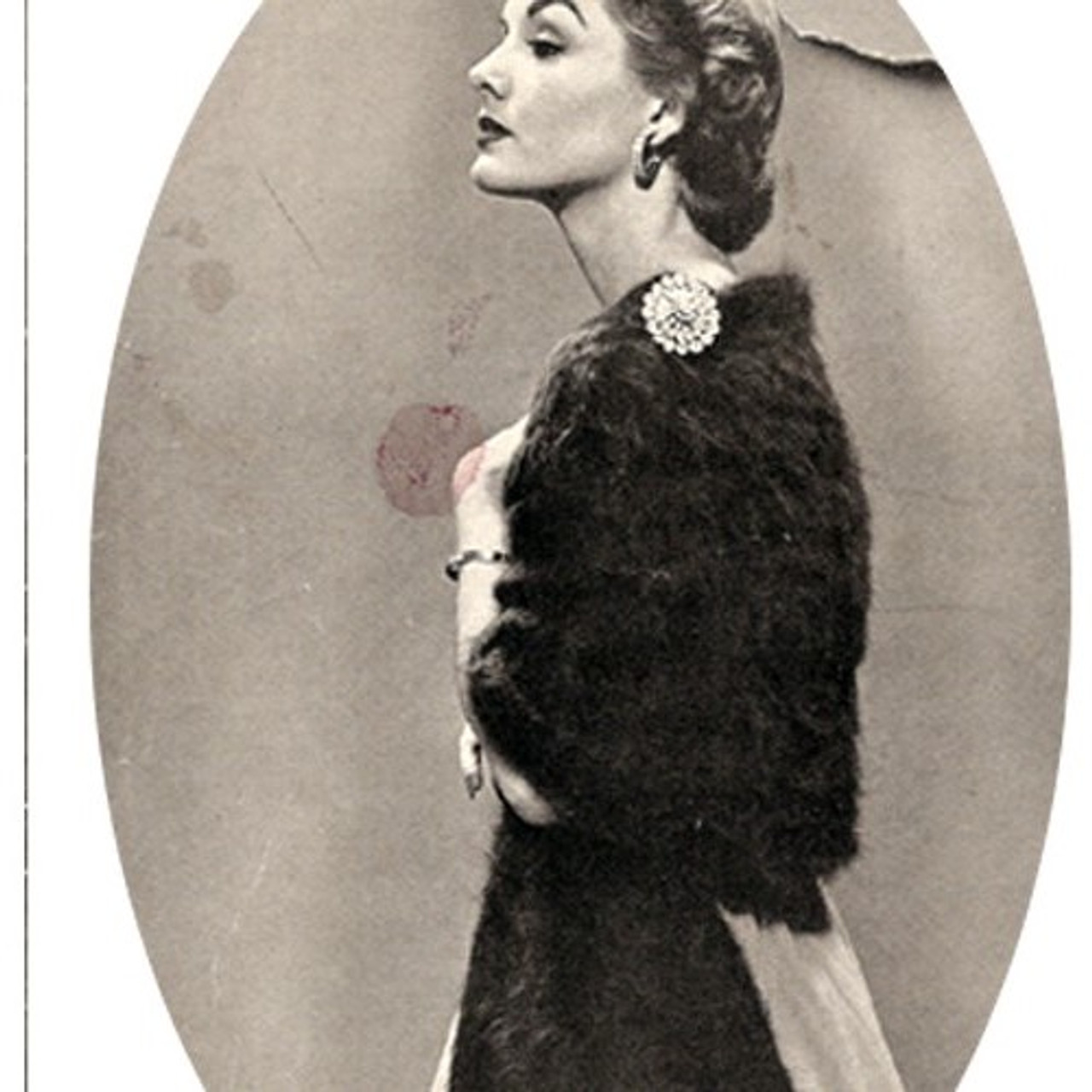Vintage Knit Angora Stole Pattern