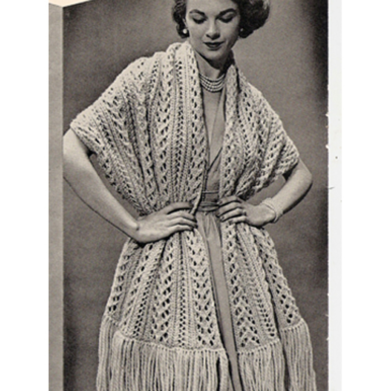 Fringed Quickie Stole Knitting Pattern