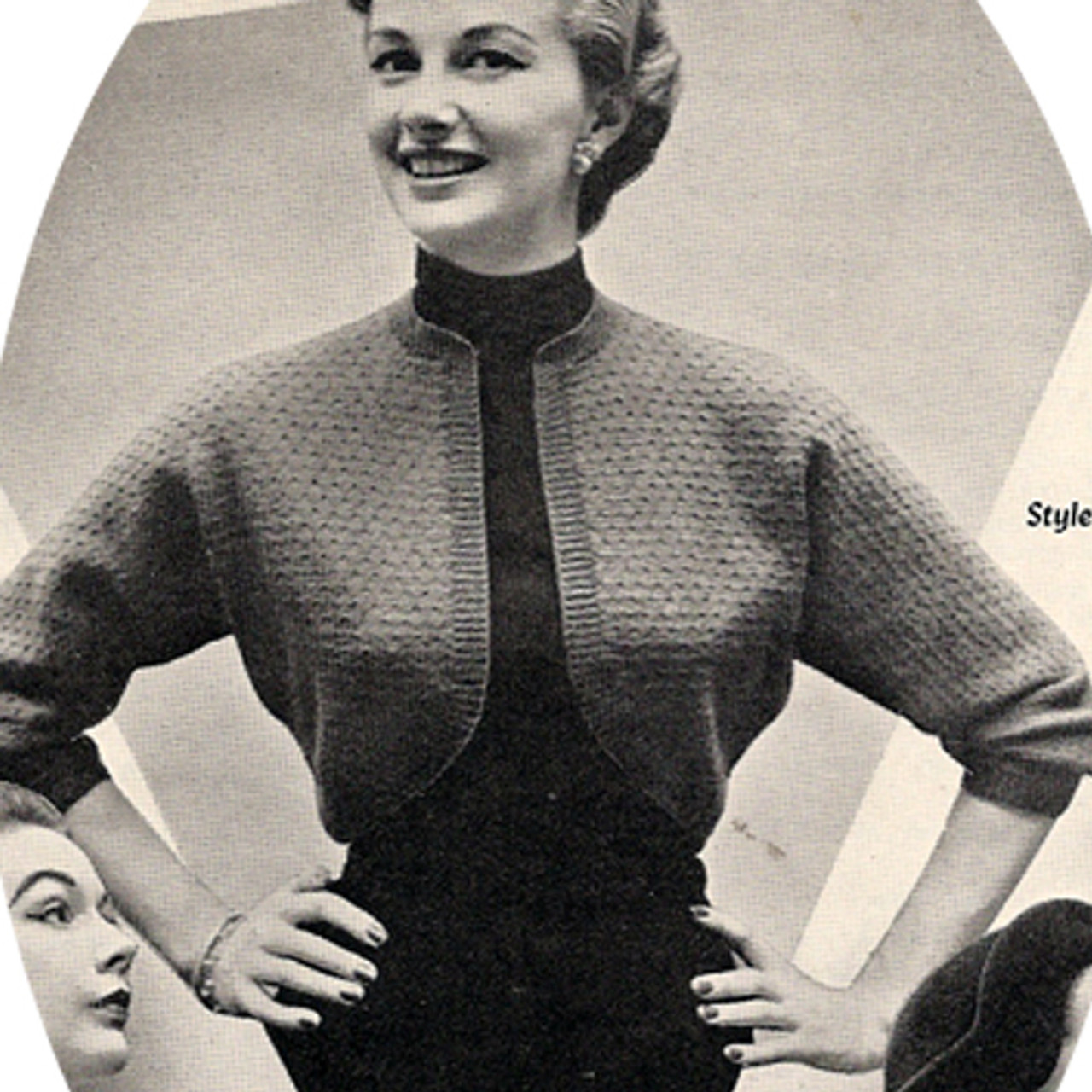 Vintage Three Quarter Knitted Shrug Pattern