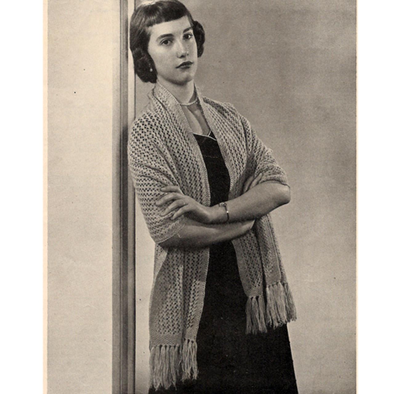 Vintage Lace Stole Knitting Pattern