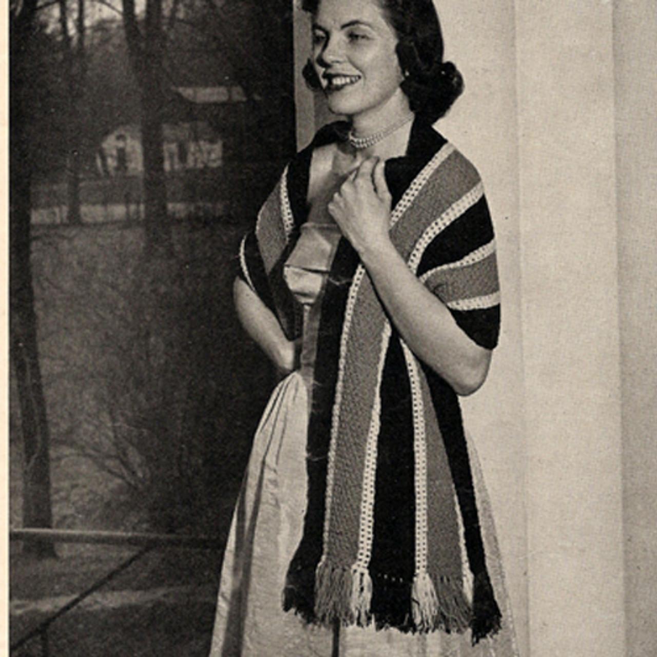 Easy Striped Stole Knitting Pattern