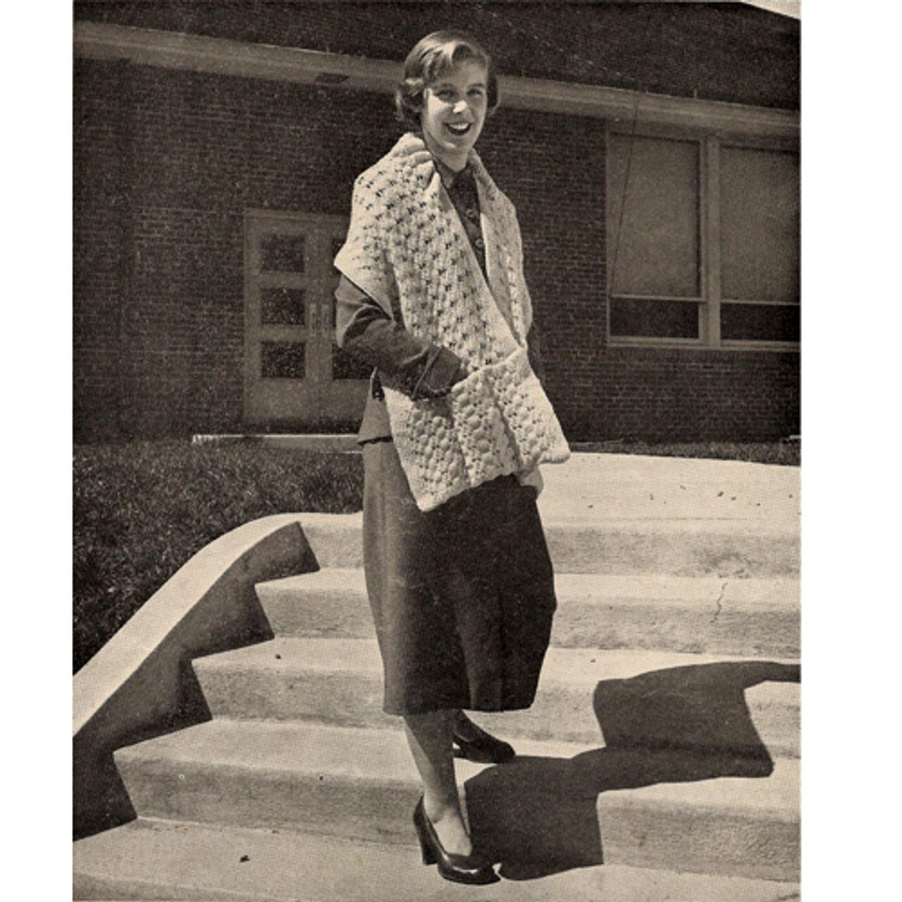Easy Pocket Stole Knitting Pattern